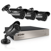 ZOSI 4CH 1080P HD TVI Security Camera CCTV System P2P IR Night Vision 4PCS 2 0MP
