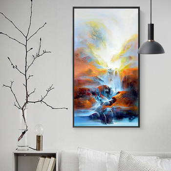 Hotel Villa Posters And Prints Landscape Pictures Living Room Abstract Painting DIY Wall Art Canvas Paintings image