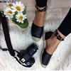 2017 Women Studded Loafers Espadrilles Slip On Slipony Gladiator Flats Platform Shoes Ladies Brand Designer Canvas