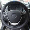 XuJi Preto Couro Genuíno Mão-costurado Tampa Da Roda de Direcção Do Carro para BMW 320d 320i 328i F30 F20