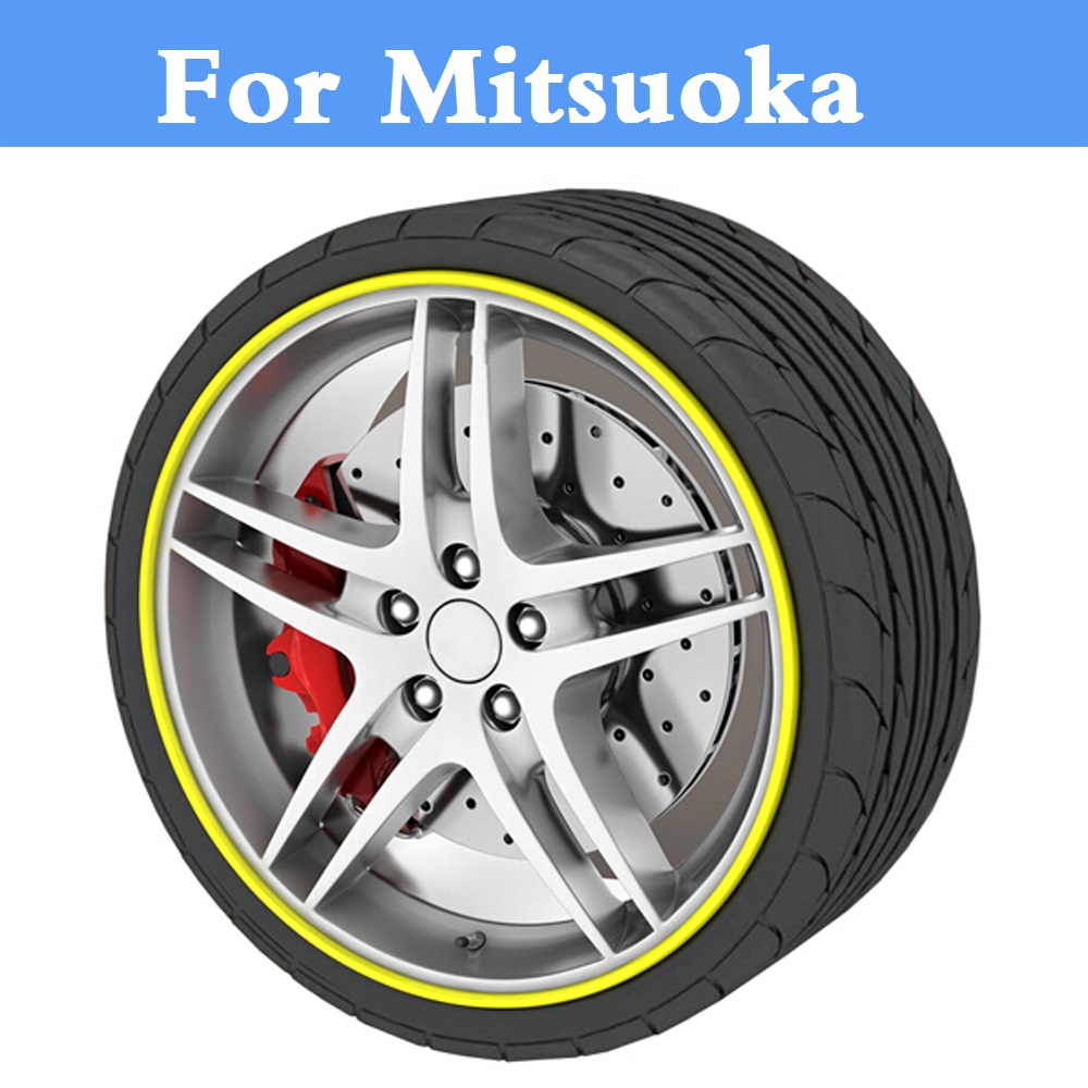 8M Car Wheel Tire Hub Care Cover Decal Moulding Sticker For Mitsuoka Galue 204 Himiko LeSeyde Like Nouera Orochi Ray Ryoga Viewt