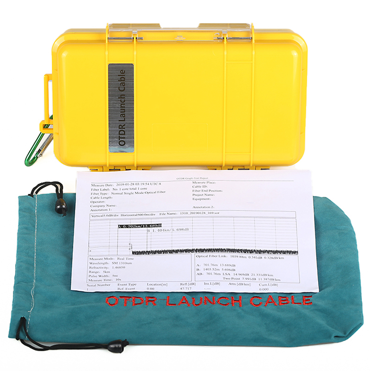 Fiber Optic OTDR Launch Cable Fiber Box 500m 1KM 2KM OTDR Dead Zone Eliminator (3)