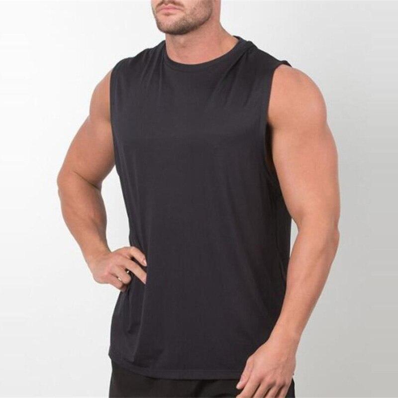 Brand New Plain Tank Top Men Canotta Bodybuilding Sleeveless Shirt Gyms Stringer singlet Blank Fitness Clothing Sportwear Vest