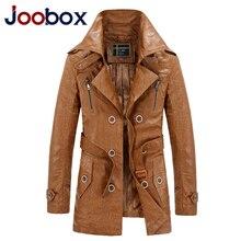 JOOBOX Brand Long font b Leather b font font b Jacket b font Men Plus Size