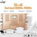 Dual band 2G + 4G LTE 800 MHz/GSM 900 MHz 2g 4g Smart mobile signal booster kits Zellulären signal verstärker 2g 4g repeater Kit