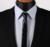 Let2 negro lazo de cuero de moda Casual clásico flaco delgado sólido hombres corbata