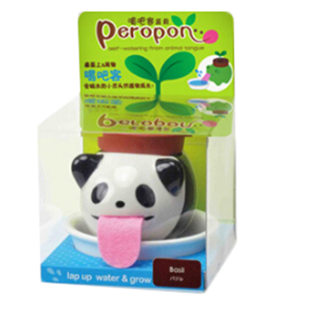Self-Watering-Planter Tongue-Pot Ceramic Animal Cute Peropon Cultivation