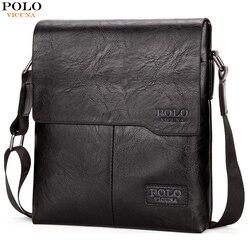 Викуньи поло Винтаж модная мужская кожаная сумка бренд Повседневное Бизнес мужская сумка Высокое качество Новые мужские Crossbody Travel Bag продви...
