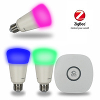 JIAWEN Zigbee Hub Smart Bulb And Smart Bridge Starter Kit Wireless Zigbee Home Automation
