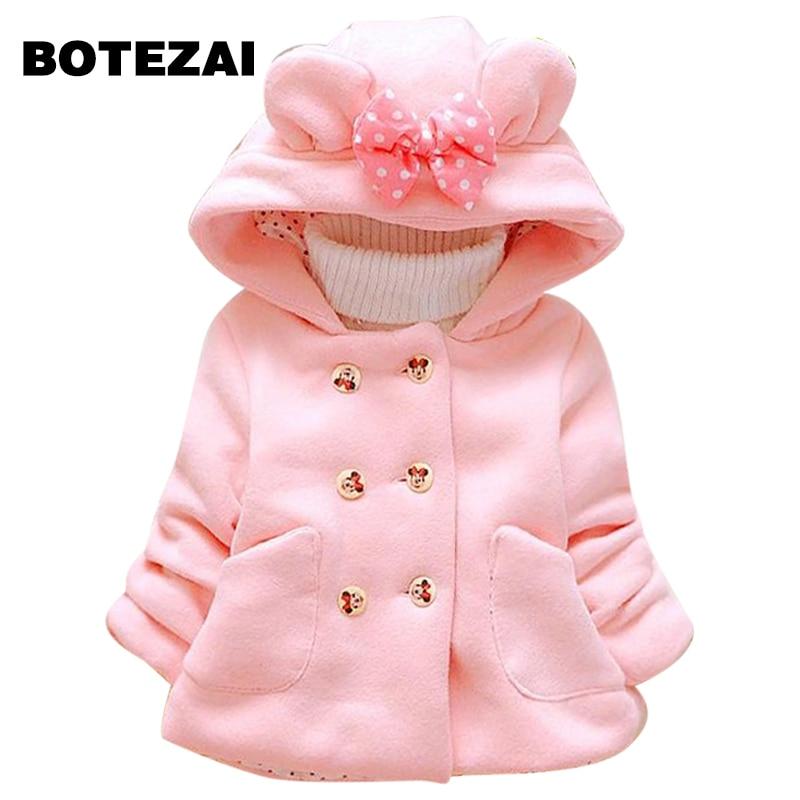 New Minnie Girls Jacket Winter Cartoon Lovely Keeping Warm Girls Coat - Children's Clothing