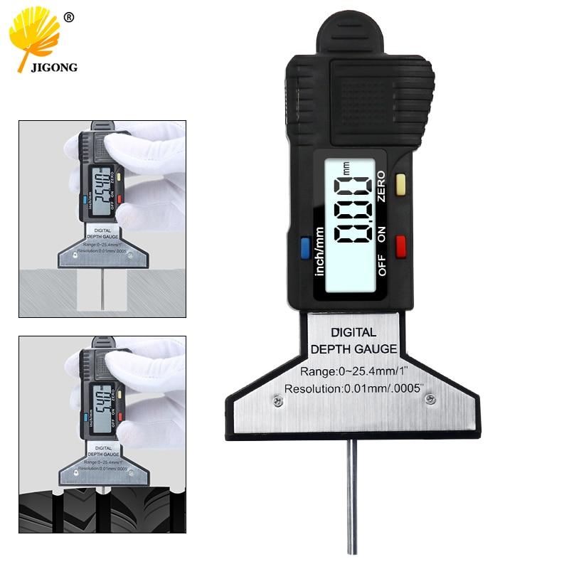 Black Digital Tread Depth Gauge 0-25MM Measuring Ruler Pressure Car Safety Measurer Tool Tire monitor ElectronicBlack Digital Tread Depth Gauge 0-25MM Measuring Ruler Pressure Car Safety Measurer Tool Tire monitor Electronic