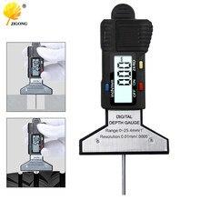 Medidor de profundidade preto 0-25mm do passo de digitas que mede a pressão da régua a ferramenta do medidor de segurança do carro