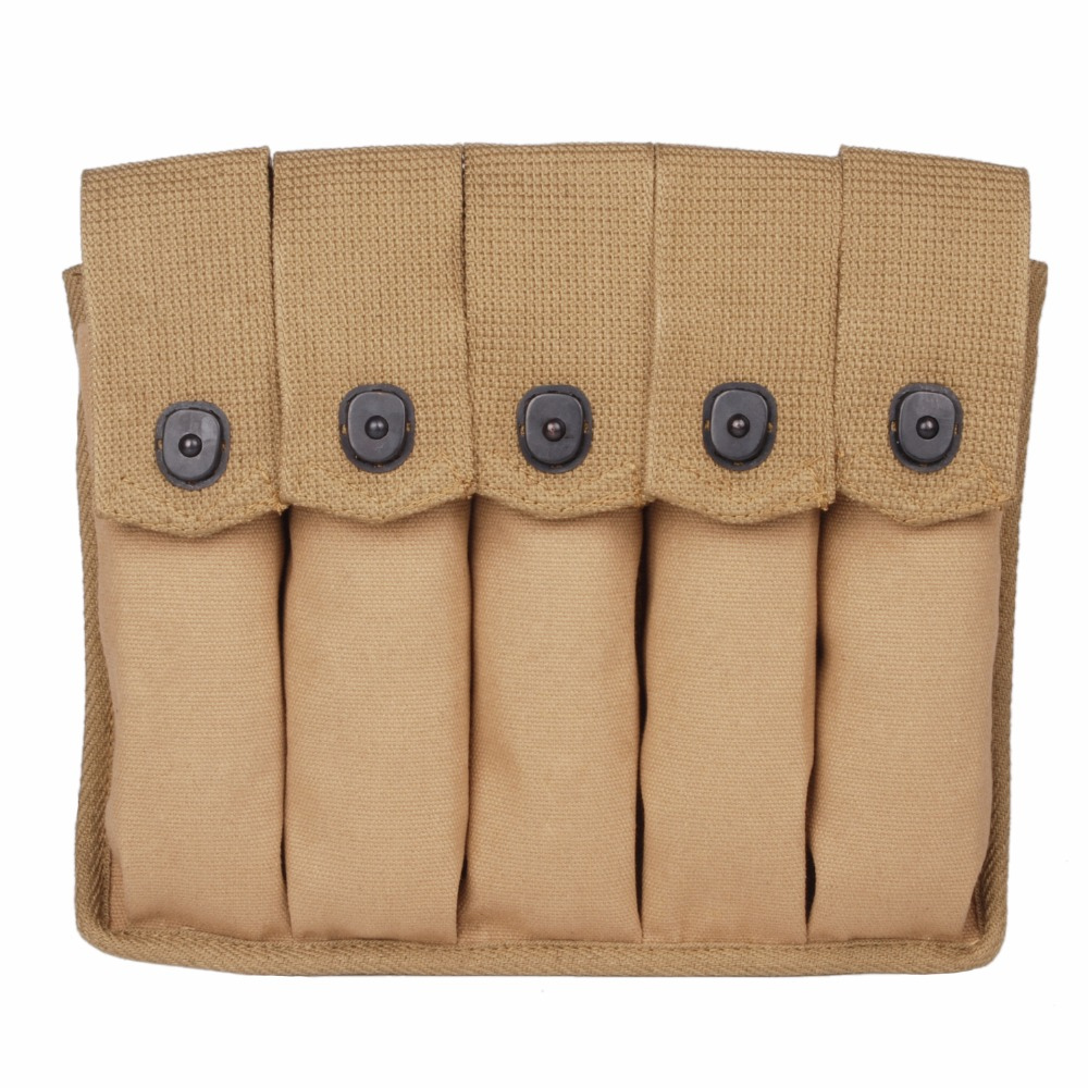 WWII US AMRY THOMPSON MAGAZINE POUCH 5 CELL 30 ROUNDS