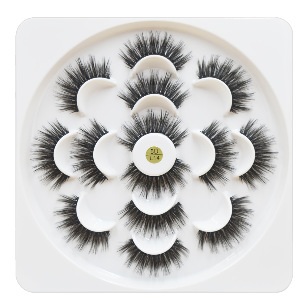 7 Pairs/1box Mink Eyelashes Natural Long 3d Mink Eyelash Extension Hand Made False Lashes Makeup Eyelashes For Beauty