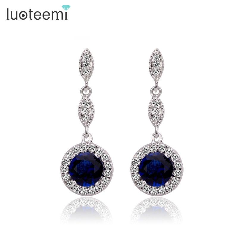 aliexpress buy luoteemi blue jewelry