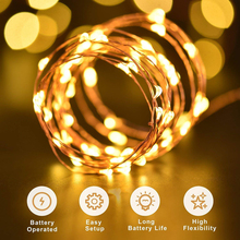 LYFS 1/2/5/10M Holiday fairy lights garland  battery String Lights Copper Wire LED Lights for Christmas Wedding Decoration