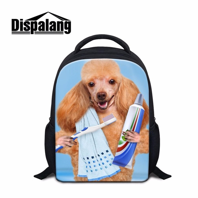 Dispalang Hot Selling Kids School Bags Pet Dog Prints Mini Backpack