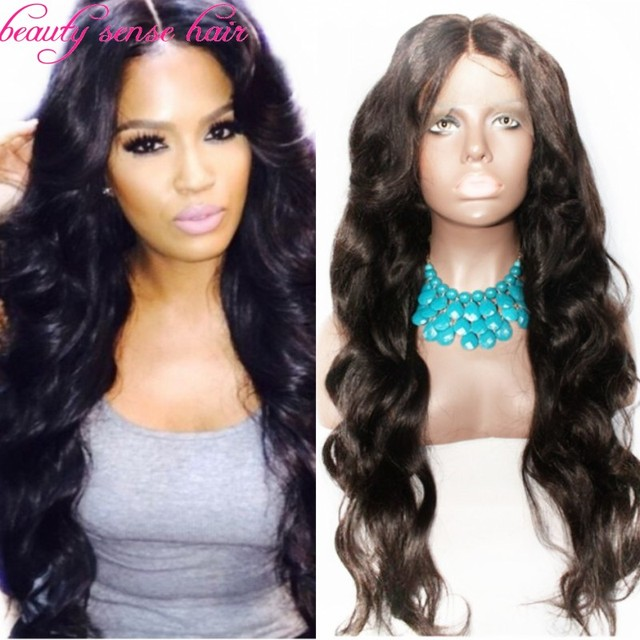 Best Quality Glueless Silk Top Full Lace Wigs Natural Hairline Virgin Brazilian Human Hair Wavy Middle