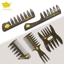 1 PCS Hot Sale Retro Style Wide Teeth Comb Anti-static Anti-static Hair Cutting Dyeing Comb Beard Oil Brush Comb Hairdressing Co janeke golden wide teeth comb with handle page 10