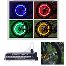 leadbike 32 pcs Waterproof Bicycle Bike Wheel Signal Tire Spoke LED Lights Cycling Rear Lights 21 Different Patterns