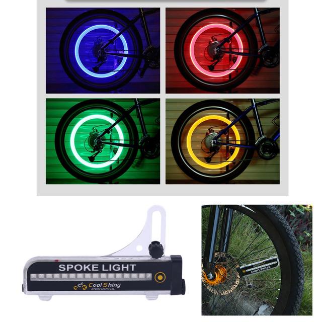 leadbike 32 pcs Waterproof Bicycle Bike Wheel Signal Tire Spoke LED Lights Cycling Rear Lights 21 Different Patterns