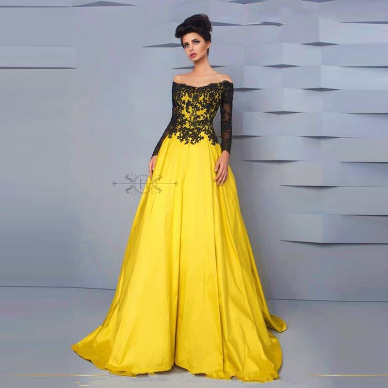 Discount long yellow dress