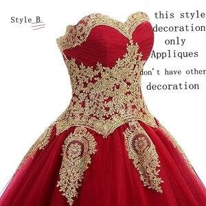 Image 5 - Angelsbridep GOLD Appliques บอลชุด Quinceanera 2020 ประกายคริสตัล Tulle ความยาวหวาน 16 Dress Debutante Gowns