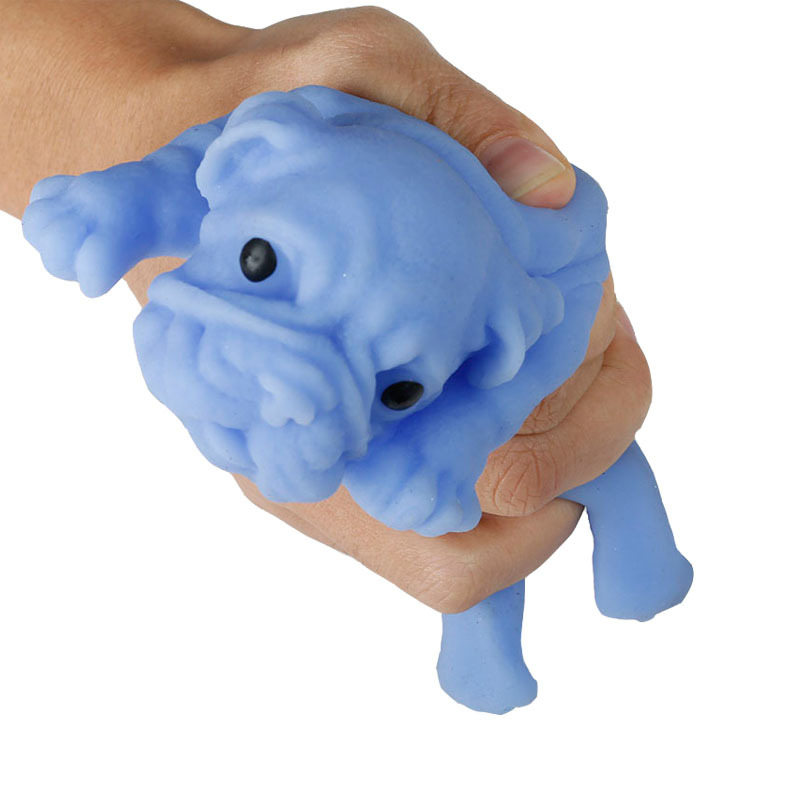 1pcs Fashion Creative Venting Decompression Toy Novelty Practical Jokes Squeezing Shar Pei Toys For Kids Friends Great Gifts