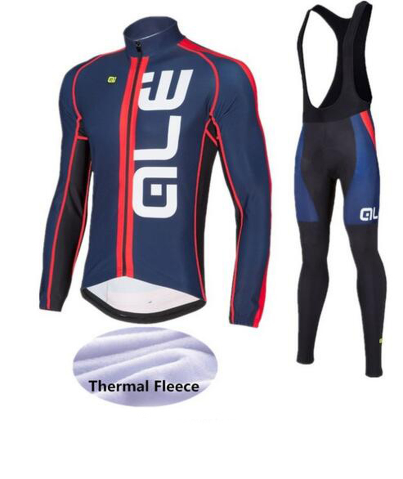 2018Pro winter warm wool long-sleeved cycling suits MTB Ropa Ciclismo ALE riding gear high quality
