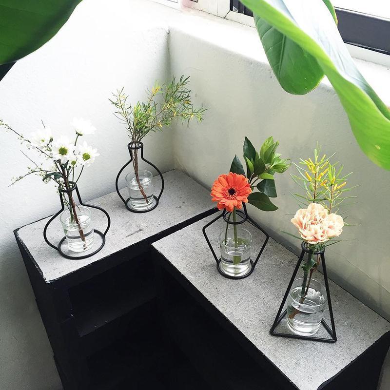 Iron Shelving Flower Vases 5