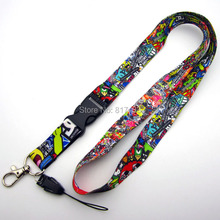 10PCS JDM car lanyard illest hellaflush graffiti doodle style lanyard mobile phone pendant(China)