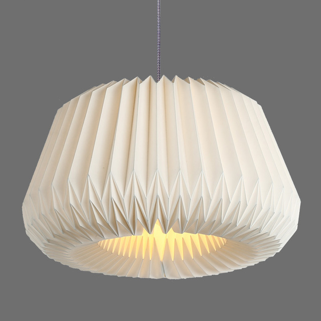 Popular Modern Handmade Paper Lampshade Hanging Light E27 Nordic Creative  ES32
