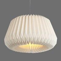 Modern Handmade Paper Lampshade Hanging Light E27 Nordic Creative White Lighting Fixture Dining Room Bedroom Pendant Lamp PL578