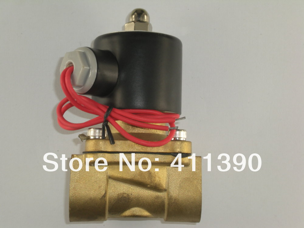 1 Electric Solenoid Valve 220 Volt, Water, Diesel normally closed AC220V 12vdc 1 4 inch bspp female nylon plastic electric solenoid valve nc water fluid
