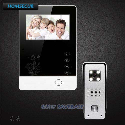 HOMSECUR 4.3inch TFT LCD Hand-Free Door Phone System With Video & Dual-way Audio Communication Easy Installation