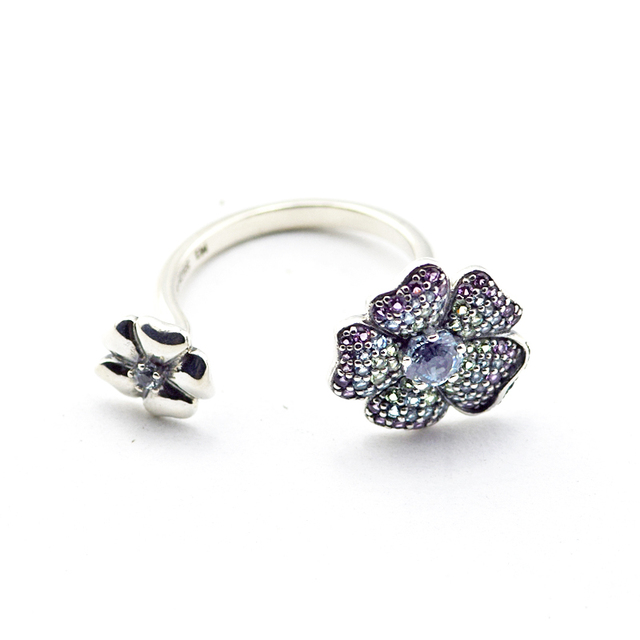 CKK 925 Sterling Silver Glorious Blooms Ring, Multi-Colored For Women Original Jewelry Making Anniversary Gift