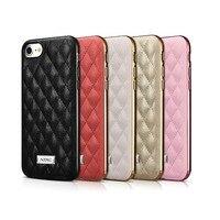 Icarer Lady Luxe 5 Kleuren Vierkante Grid Lamsleren Case Voor iPhone7 4.7