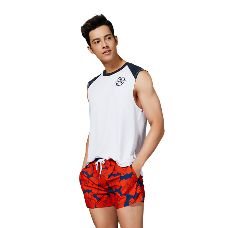 New SEOBEAN mens shorts Beach Shorts  Print Siwmsuits Mens Bathing Suits Quick Dry Sexy