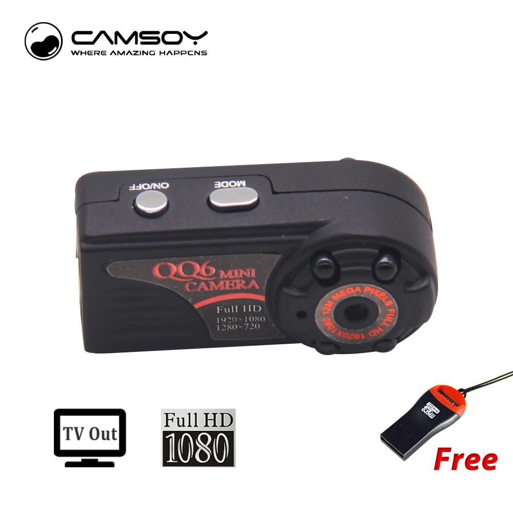 QQ6 Mini Camera Full HD 1080P DVR DV Camera Micro Camcorder Kamera 185 Degree Motion Detector Mini Camcorder Minikamera