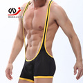 WJ Men's Underwear Manufacturers Wholesale Sexy Elastic Mesh U Shape Neck Breathable Jumpsuits