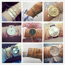 Bracelet-Set Glamour Geometric-Statement Bohemian-Shell Fashion Jewelry Female Retro