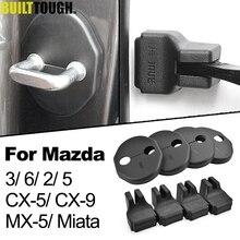 Xukey дверной замок фиксатор крышки фиксаторы уход за кожей лица маска с пряжкой, чтобы проверить руку функцию защиты Антикоррозийная чехол для Mazda 3 2 5 6 CX-5 CX-9 MX-5 Miata