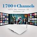 Q1404 Android4.4 Tv Box Iptv Android Set Top Box de Iptv Europa caixa de Iptv Canais Conta Europa 1700 + Canais Sky Portugal indiano