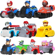 Paw patrol Dog patrulla canina Toys Anime Figurine Car Plastic Toy Action Figure model Children toys Christmas Gifts