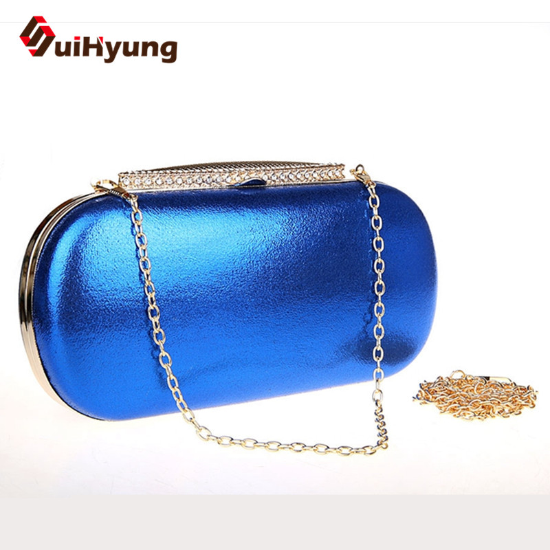 New Fashion Women Leather Shoulder Handbag Woman Clutch Bag Diamond PU Day Clutches Lady Party Evening Bag Bolsas 7 Colors new 2015 fashion women day clutches shiny red and black evening clutch handbag female bolsa feminina pequena lady purse hand bag