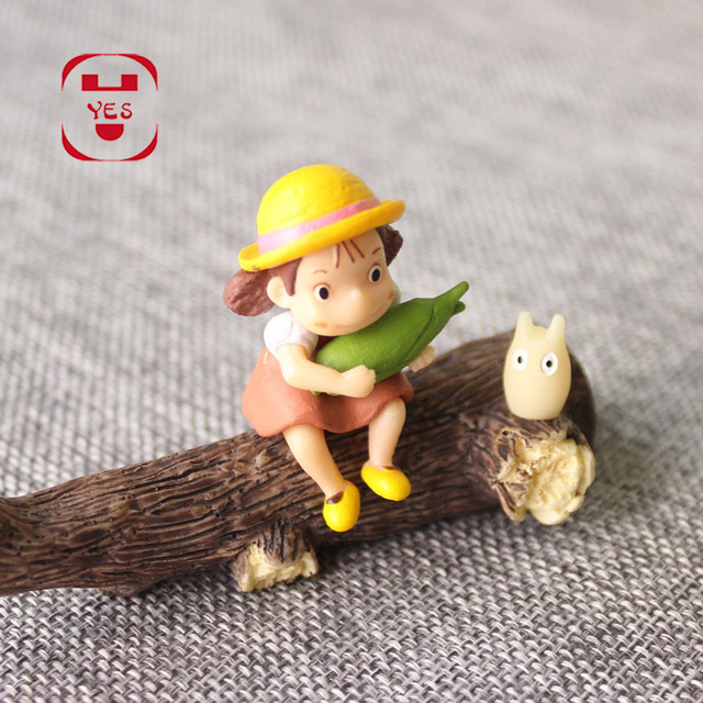 YES My Neighbor Totoro Xiaomei Dead Wood Dry Branches Miniatures Fairy Garden Decoration Resin Crafts DIY Moss Micro Landscape 2