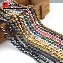 Natural Stone Beads Faceted Matte Rose Gold Black Hematite Round Beads For Jewelry Making Diy Bracelet Necklace 4 6 8 10 mm 15''