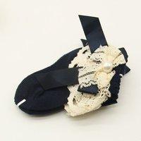 Fashion Cute Lovely Baby Lace Big Chiffon Socks 100% Cotton Socks Absorb Sweat Baby Soft Warm Scoks