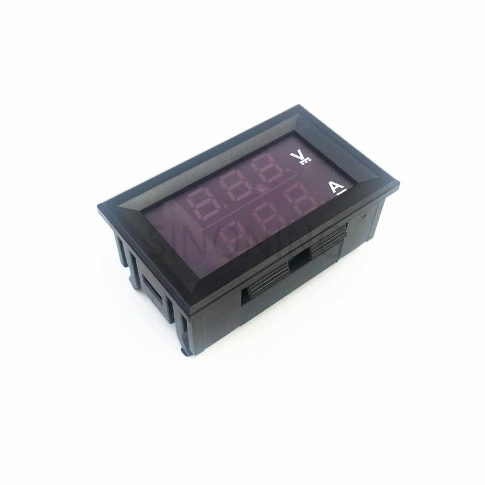 """Mini Digital Voltmeter Amperemeter DC 100 V 10A Panel Amp Volt Spannung Strom Meter Tester 0,28 """"Blau Rot Dual led-anzeige"""