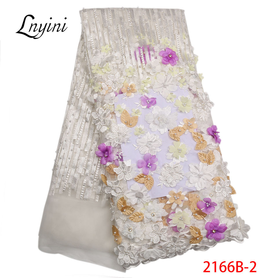 Nigerian Lace Fabrics For Wedding 2018 High Quality African Tulle Lace Fabric 3d Laces Appliqued French